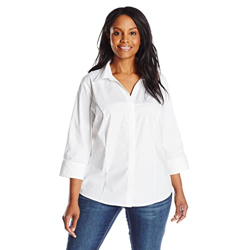 White Plus Size Blouses: Amazon.com
