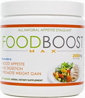 VH Nutrition | FoodBoost MAX | Appetite Stimulant for Men and Women | Natural Weight Gain Pills - 30 Day Supply - 120 Caps...
