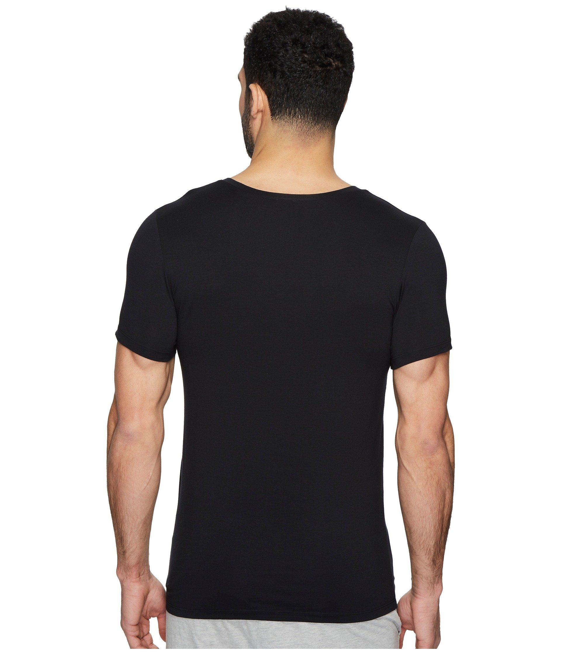 neck V Superior Hanro Black Shirt Cotton qvgUUx0