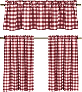 Amazon Com Red Gingham Curtains