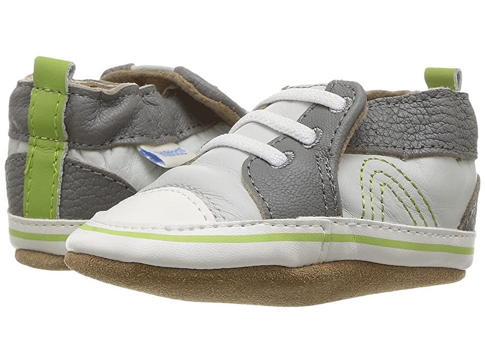 Robeez Trendy Trainer Soft Sole (Infant/Toddler) (Grey) Boy