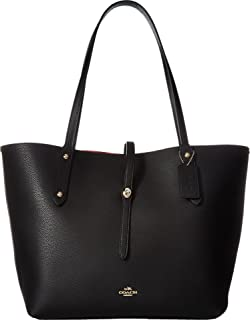 COACH Women's Polished Pebbled Leather Market Tote