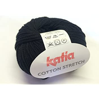 Katia 002 - Ovillo de lana de algodón, negro, 50 g: Amazon.es: Hogar