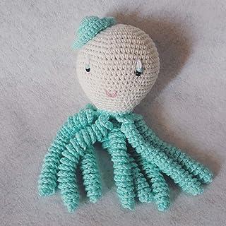 Pulpo amigurumi para recién nacido en color aguamarina Pulpo de ganchillo - crochet para bebé, ideal como regalo de nacimi...