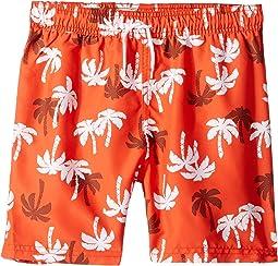 Orange Palm Print