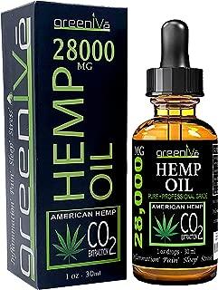 GreenIVe 28,000mg Hemp Oil Anti-Inflammatory Vegan Omegas C02 Extraction Exclusively on Amazon (1)