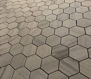 SomerTile FNURTXCN Vintage Hex Porcelain Floor and Wall Tile 14.125 x 16.25 Brown//Grey SomerTile FNURTXCN Vintage Hex Porcelain Floor and Wall Tile Cendra 14.125 x 16.25