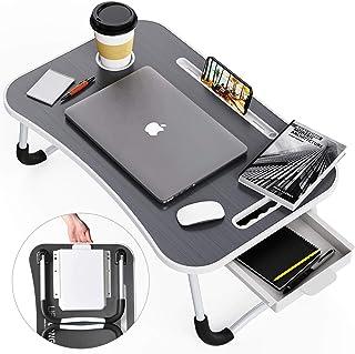 Lap Desk, Foldable Desk Bed Tray, Standing Desk, Laptop Desk, TV Tray Tables for Eating, Bed Table, Bed Desk, Breakfast Tr...