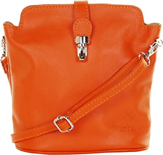 Primo Sacchi Ladies Soft Italian Leather Hand Made Adjustable Strap Cross Body or Shoulder Bag Handbag. Includes a Protect...