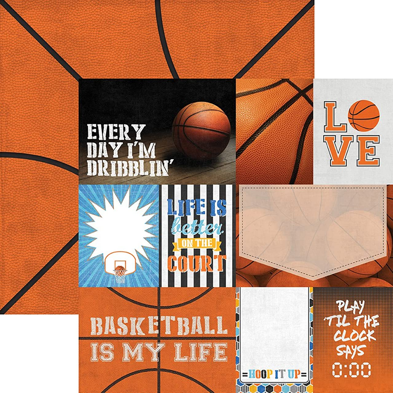 Paper House Productions P-2046E Sheet Tags Basketball Double-Sided Cardstock, 12