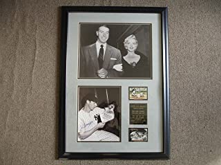 Joe DiMaggio Signed Picture - & Framed 20 5 x 29 Display - JSA LOA - Autographed MLB Photos