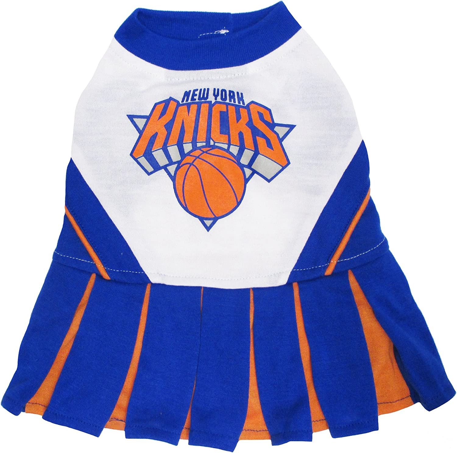 Pets First NBA New York Knicks Dog Cheerleader Dress, Small