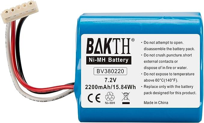 1143 opinioni per BAKTH Batteria di Ricambio NiMH 2200mAh 7.2V per Braava 380, Braava 380T, Braava