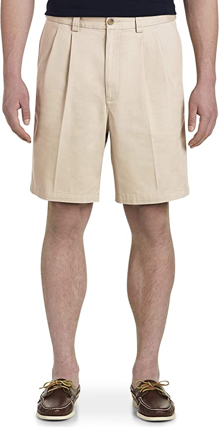 Vintage Style Mens Shorts Harbor Bay by DXL Big and Tall Waist-Relaxer Pleated Shorts $45.00 AT vintagedancer.com