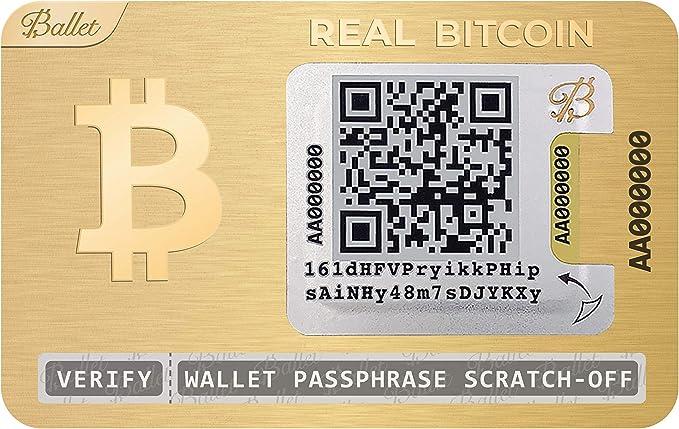 65 opinioni per BALLET Real Bitcoin, Pacchetto di 5- Placcato in Oro 24K- Portafoglio Fisico di