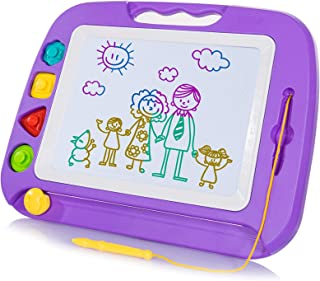 SGILE Magnetic Drawing Board Toy for Kids, Large Doodle Board Writing Painting Sketch..