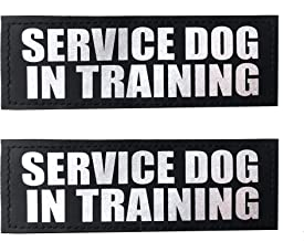 Albcorp Reflective Dog Patches with Hook Backing -Service Dog, Service Dog In Training, Do Not Pet, Emotional Support, Therapy Dog, Best Friend, In Training for Animal Vest Harnesses, Collars, Leashes