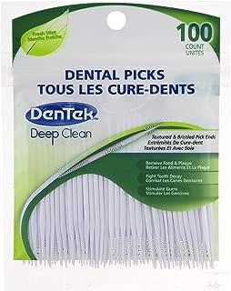 DenTek Deep Clean Bristle Picks | Removes Food & Plaque | 100 Count