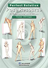 [Allpose Book] 5_Standing poses(b) Cartooning Comic Character Figure Drawing. (Learn comic,cartoon,manga,anime,illustration human body pose drawing techniques.) (Pose Resource 24 Books)