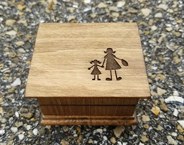 Custom Engraved Music Box With Mother And Daughter Holding Hands Image Or Mother And Son Holding Hands Great Gift For Mom Mother Of Bride Gift Mother S Day Gift Simplycoolgifts