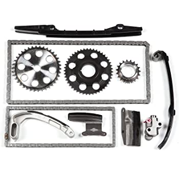 OCPTY Timing Chain Kit Tensioner Guide Rail Crank Sprocket fits for 1989-1994 Mazda MPV B2600 2.6L SOHC TK450