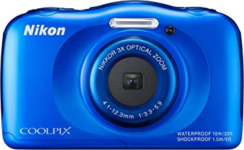 Nikon Coolpix S33 Digitalkamera (13,2 Megapixel, 3-Fach Opt. Zoom, 6,9 cm (2,7 Zoll)..