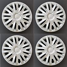 MARROW New Wheel Covers Replacements Fits 2010-2014 Volkswagen Golf/2012-2013 Volkswagen Golf R, 15 Inch; 9 Split Spoke; Silver Color; Plastic; Set Of 4; Spring Steel Clip