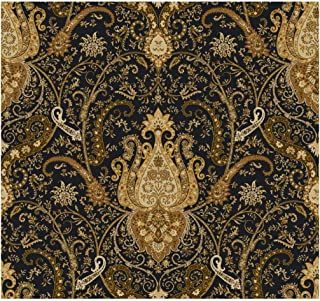 York Wallcoverings Waverly Classics Byzance Removable Wallpaper, Black/Amber/Rust/Ecru/Brown