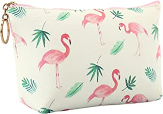 HOYOFO Travel Cosmetic Bag Portable Makeup Pouch Zipper Waterproof Organizer Bags for Women Girls,White