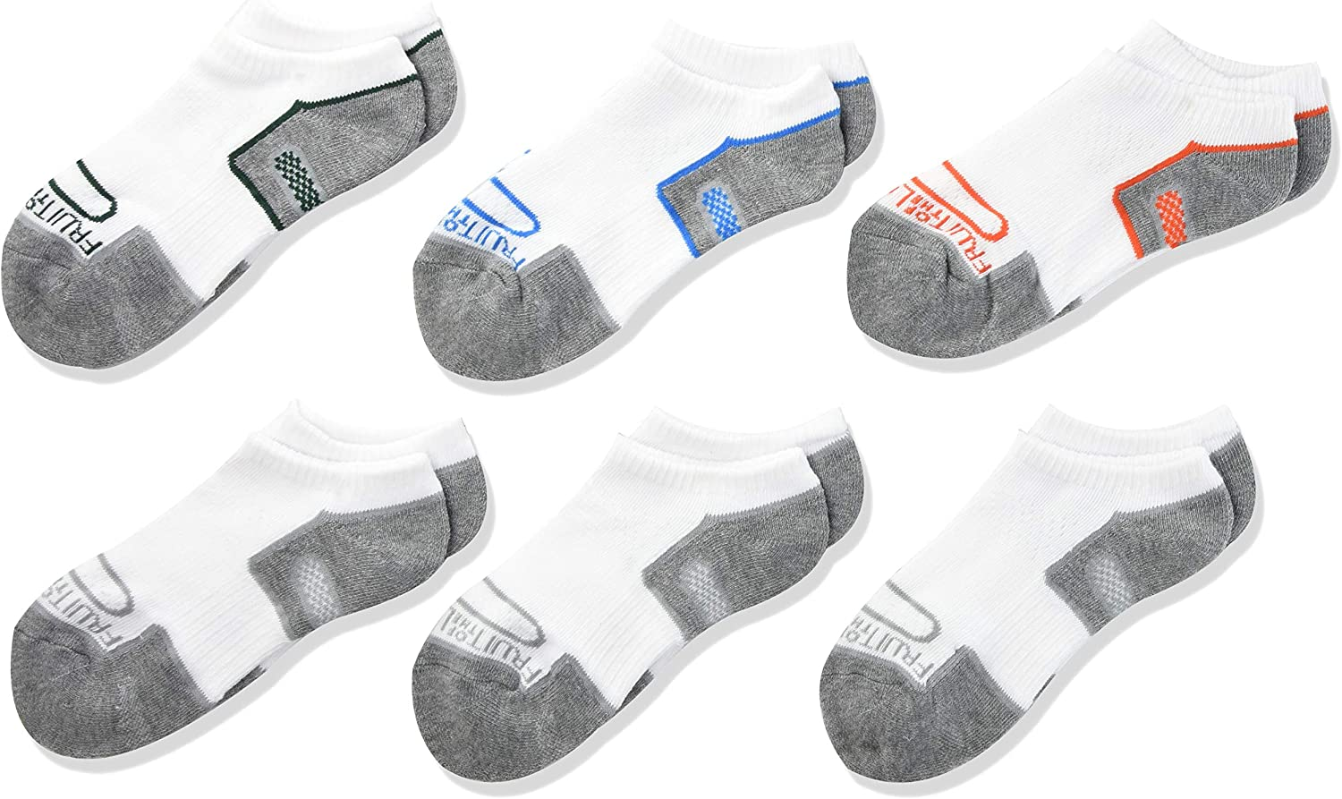 Fruit of the Loom Boy's Coolzone Cushioned Socks - 6 Pair Pack