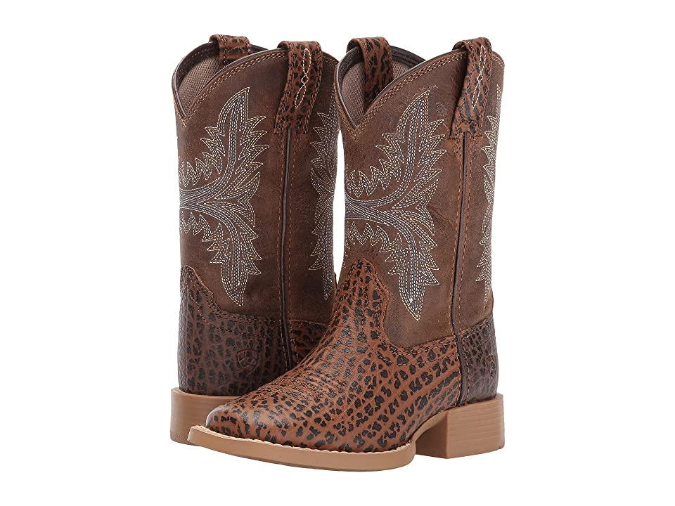 Ariat Kids Cowhand Adobe (Toddler/Little Kid/Big Kid) (Tan/Rustic Sand) Cowboy Boots