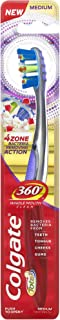 Colgate Total 360 4 Zone Whole Mouth Clean Manual Toothbrush, Medium