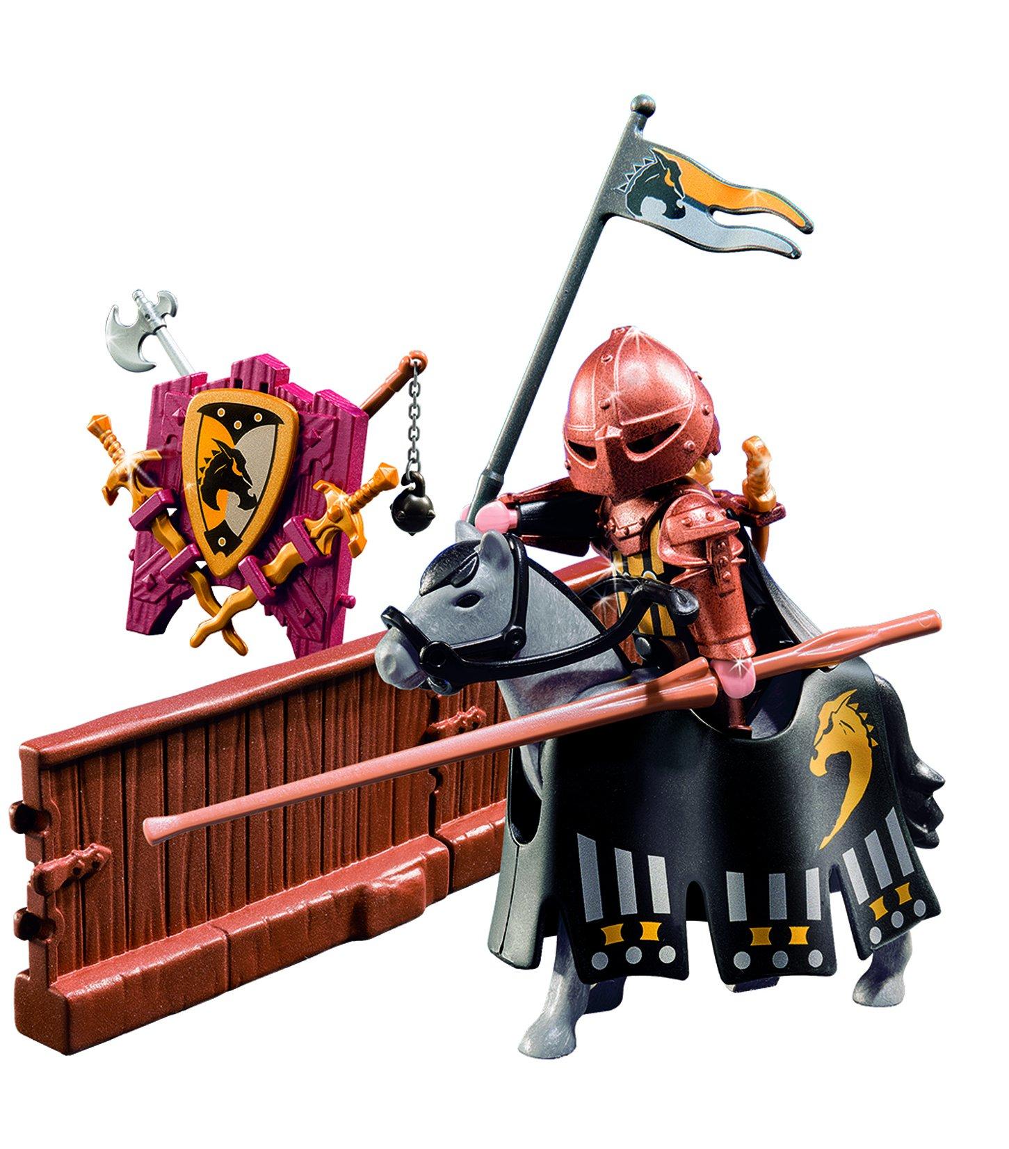 PLAYMOBIL Caballeros - Figura de Torneo de la Orden del Caballo Salvaje (5357): Amazon.es: Juguetes y juegos