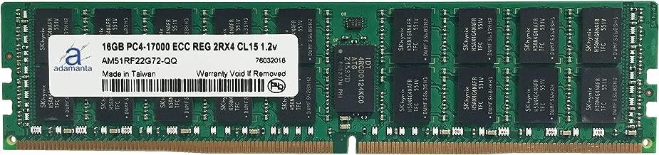 Adamanta 16GB (1x16GB) Server Memory Upgrade Compatible for Dell Poweredge, Dell Precision & HP Proliant Servers Processor DDR4 2133MHz PC4-17000 ECC Registered Chip 2Rx4 CL15 1.2v DRAM RAM