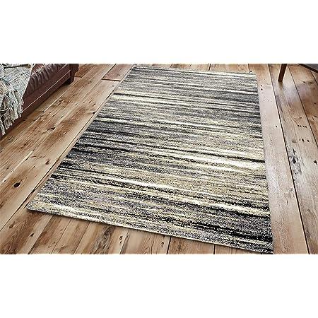 A2Z Rug Modern Design Black Grey Large Living Room Floor Bedroom Carpet Rugs New
