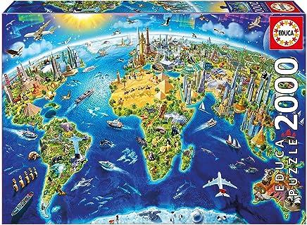 Educa World Landmarks Globe 2000 Piece Puzzle - 12 Years & Above