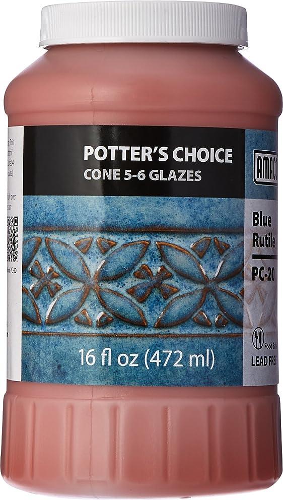 AMACO Potters Choice Glaze, Blue Rutile PC-20, 1 Pint