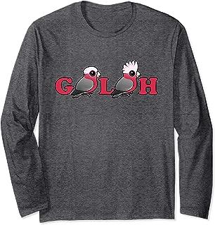 Cute Cartoon Galah Pink Parrots Bird Lover Gift Idea Long Sleeve T-Shirt