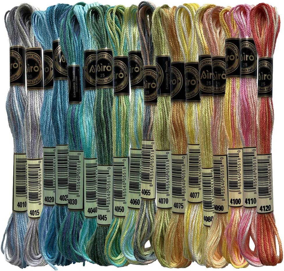 Limited price Sale price sale Magical Color Variations Floss Pack Thre Variegated Stitch Cross