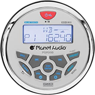 Planet Audio PGR35B Weatherproof Marine Gauge Receiver - Bluetooth, Digital Media MP3 Player, No CD Player, USB Port, AUX-... photo