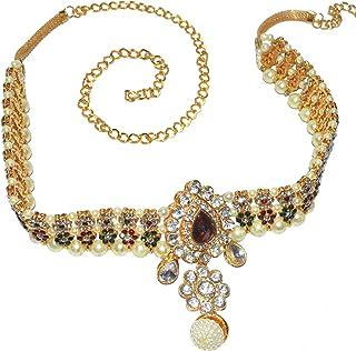 Jewels Kafe Kamar Bandh Gold Plated Belly Chain Kamarband for Women