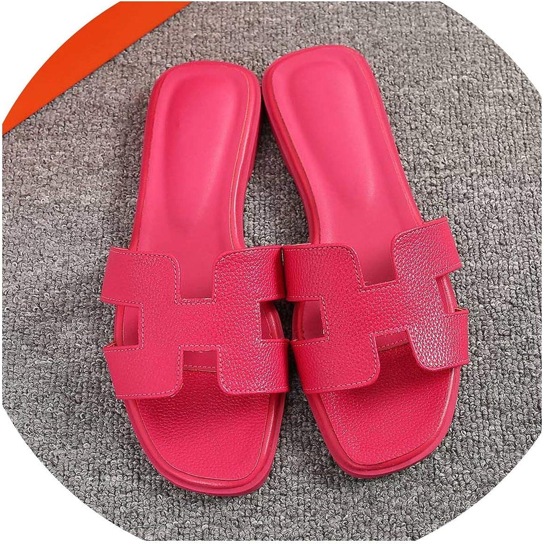 Summer Women Cut Out Beach Sandals Slides Outdoor Slippers Indoor Slip on flip Flops Size 43