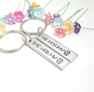 Modern (1970-Now) Keychains Personalized Date & Name