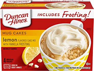 Duncan Hines Mug Cakes, Lemon Cake and Frosting