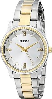 ساعة كوارتز يابانية فضية من Pulsar للسيدات PH8100 Easy Style Collection Analog Display
