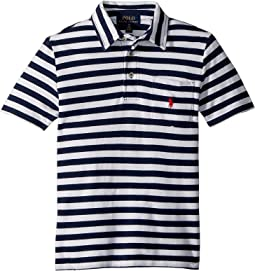 Polo Ralph Lauren Kids - Featherweight Cotton Mesh Polo (Big Kids)