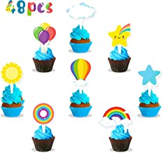 ZOIN Trolls Cupcake Toppers Party Supplies Decorations Set of 40