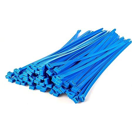 Gocableties 100 Stück Strapazierfähige Nylon Kabelbinder Hochwertig Robust 370 X 7 6 Mm Blau Baumarkt