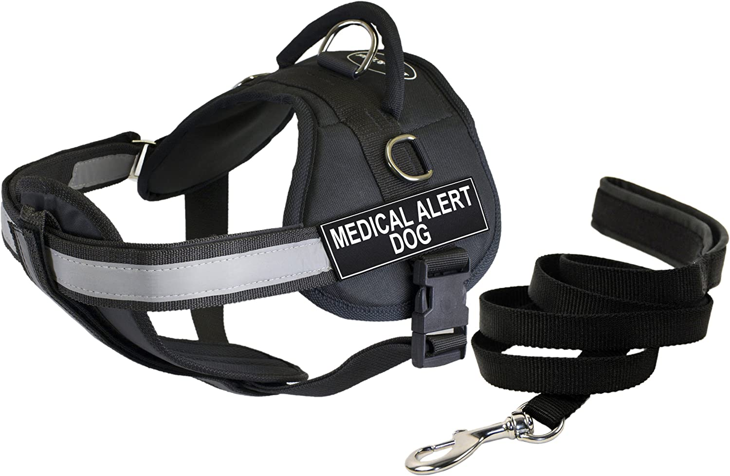 Dean & Tyler 28 by 38Inch Medical Alert Dog Harness with Padded Puppy Leash, Medium
