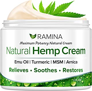 Best Ramina Natural Hemp Extract Pain Relief Cream - Made in USA - 2 fl. oz Review